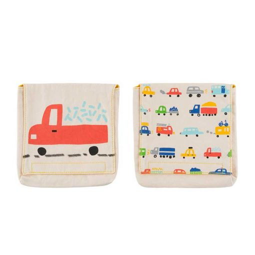 reusable snack bags with car design