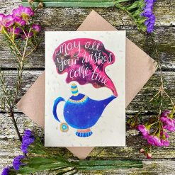 may al your wishes come true plantable card