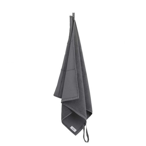 dark grey calm towel to go the organic company