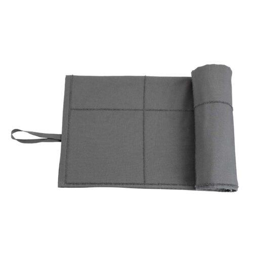 calm towel to go in dark gret