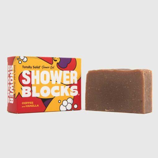 coffee and vanilla shower blocks soap bar