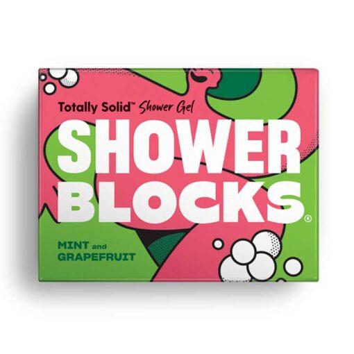 mint and grapefruit shower blocks