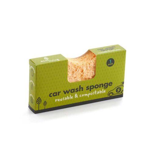 eco friendly car sponge in cardboard packaging