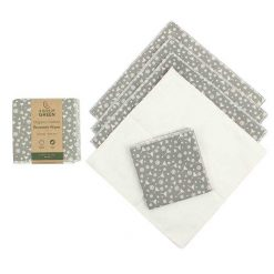 organic cotton reusable wipes sold in a 5 pack