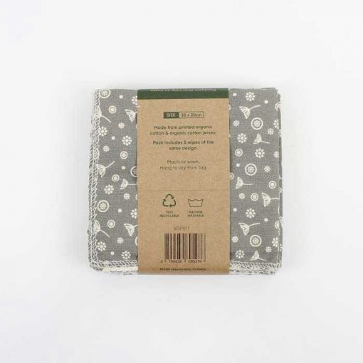 organic cotton reusable wipes packaging