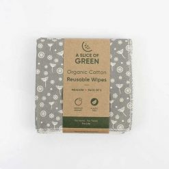 organic cotton reusable wipes in cardboard surround