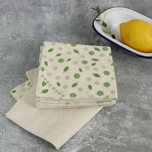 organic cotton unpaper towels in bathroom