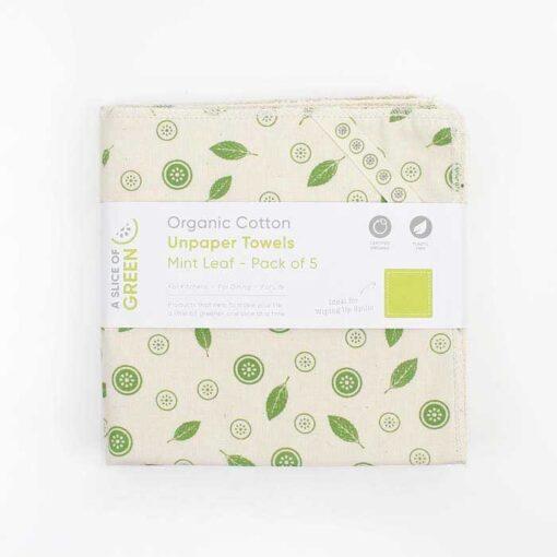 front side of organic cotton unpaper towels