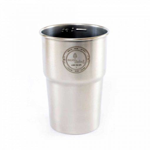 reusable stainless steel pint cup
