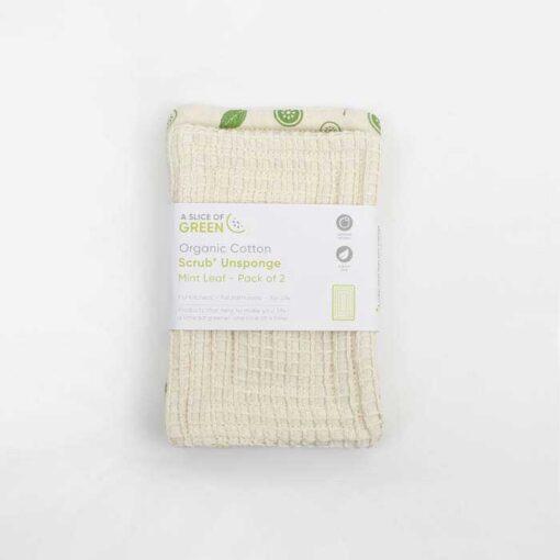 organic cotton scrub unsponge in packaging