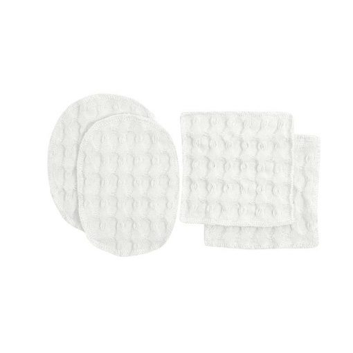 reusable makeup wipes in white