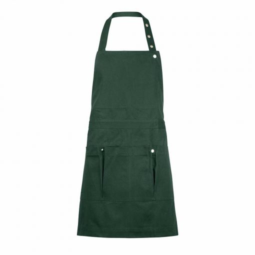 green gardening apron with pockets