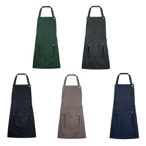 garden apron with pockets in 5 different colours