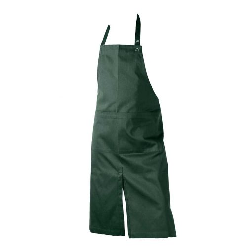 green organic cotton apron