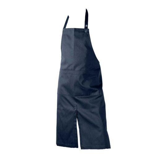 dark blue organic cotton apron