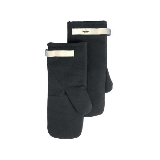 organic cotton oven mitts in grey