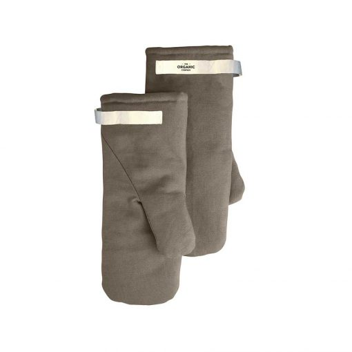 organic cotton oven mitts in clay colour