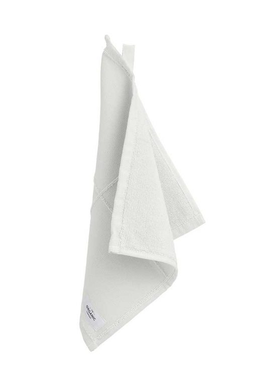 organic face cloth in natural white