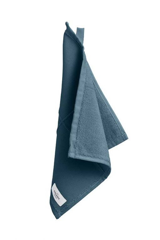 organic face cloth in grey blue colour