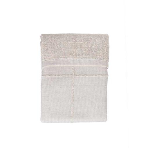 organic hand towel folded up