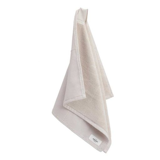 organic hand towel in stone colour