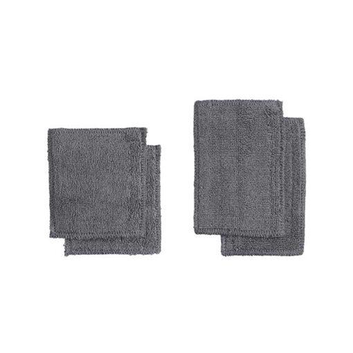 dark grey organic makeup pads