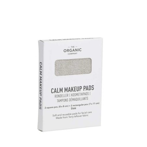 organic makeup pads in cardboard packaging