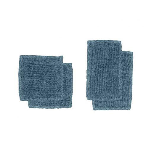 grey blue organic makeup pads