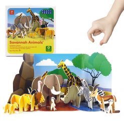 savannah animals playset