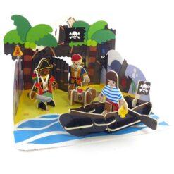 plastic free pirate playset