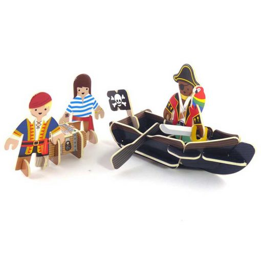 plastic free toy boats with pirates
