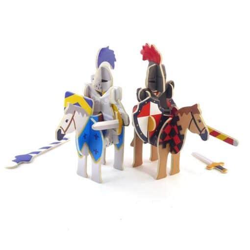 knights castle playset figurers on horses