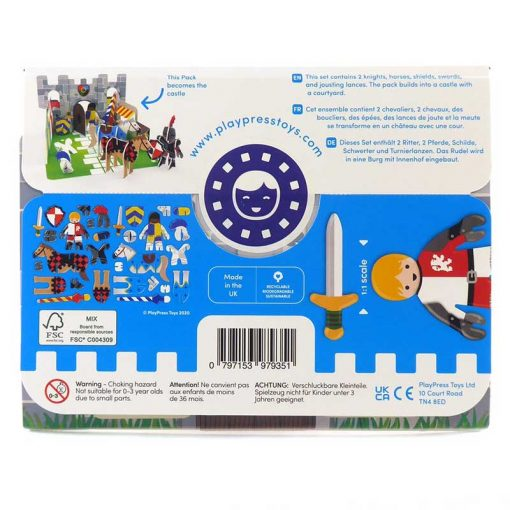 knights castle playset packaging