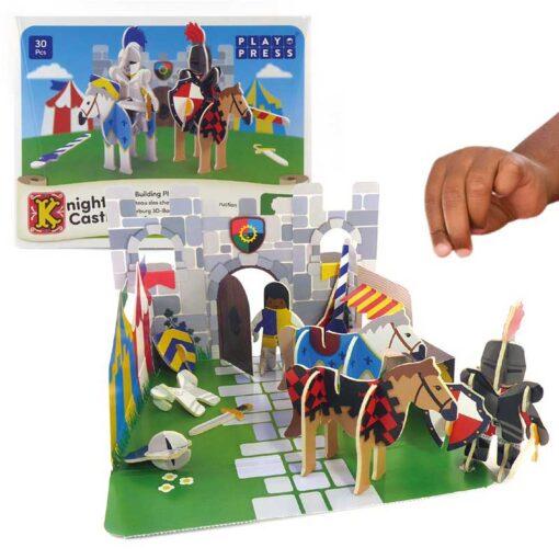 plastic free knights castle playset