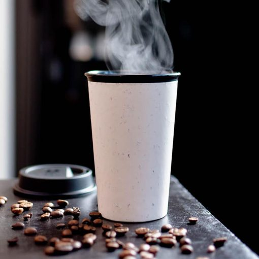 steaming hot circular now cup