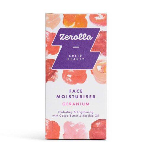 solid face moisturiser bar geranium