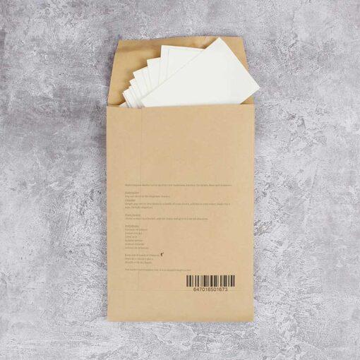 multipurpose cleaner wipes in brown packaging