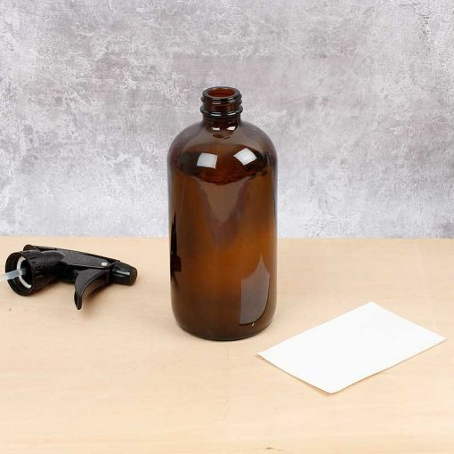 bottle next to cleaner