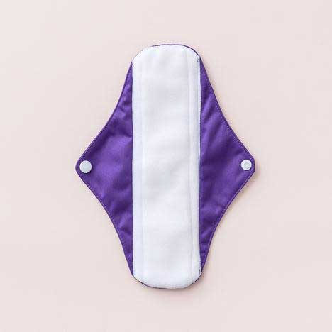 cloth sanitary pad in purple with wings