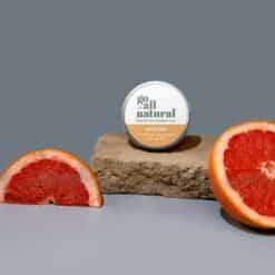 go all natural deodorant next to grapefruit