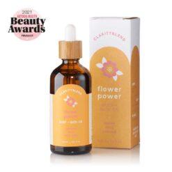 flower power body and bath oil pack shot