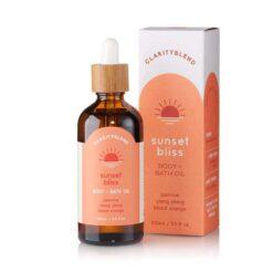 sunset bliss body and bath oil packshot