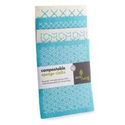 compostable sponge clothes 4 pack