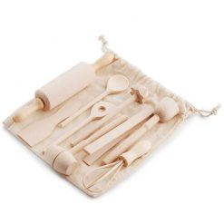 wooden mini cooking utensil set