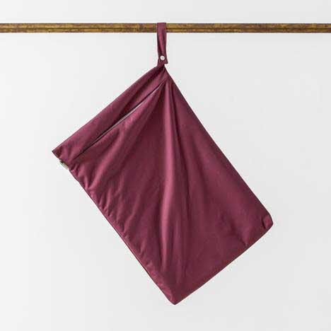 aubergine hanging nappy bag