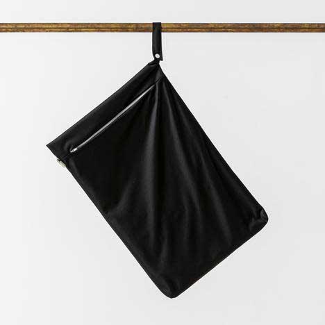 black hanging nappy bag