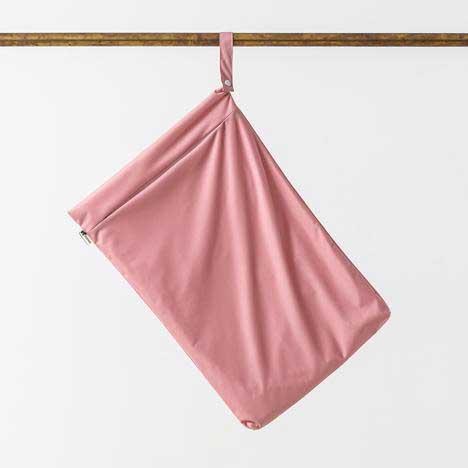 blush pink hanging nappy bag