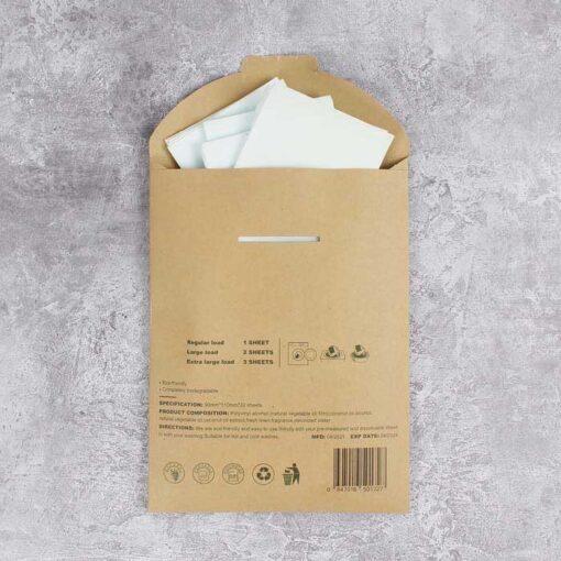 reverse side of packaging