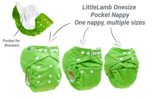 little lamb one size nappies infographic