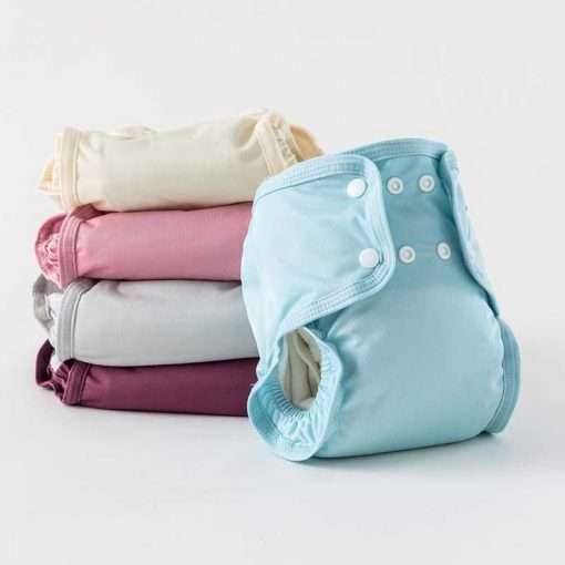 little lamb reusable nappy in blue